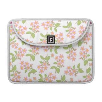 ピンクの桜の人力車の折り返しの袖 MacBook PROスリーブ