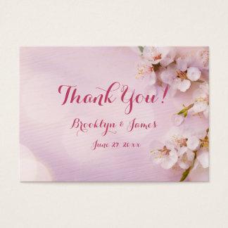 ピンクの桜の結婚式の引き出物のラベル 名刺