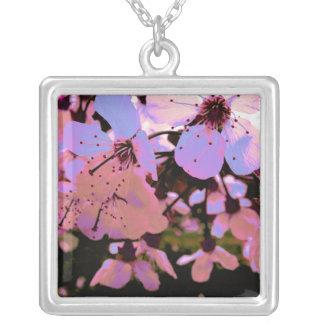 ピンクの桜 シルバープレートネックレス