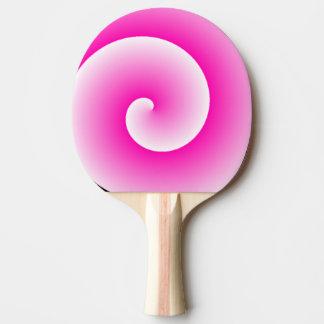 ピンクの棒つきキャンデーの渦巻の卓球ラケット 卓球ラケット