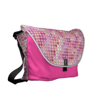 ピンクの極小マイクロ写真 メッセンジャーバッグ
