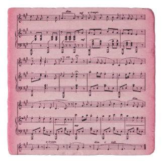 ピンクの楽譜 トリベット