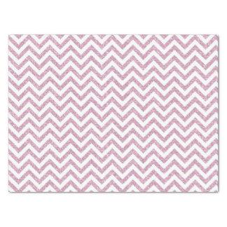 ピンクの模造のなグリッターシェブロン 薄葉紙