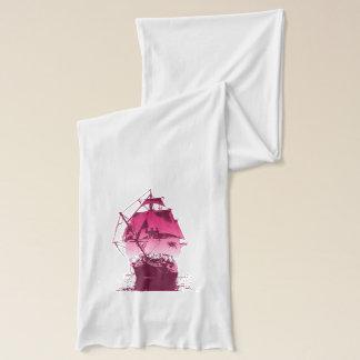ピンクの歴史的船 スカーフ