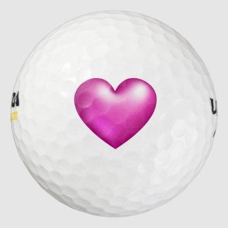 ピンクの気球のハート ゴルフボール
