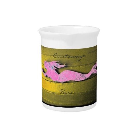 ピンクの水中人魚 ピッチャー