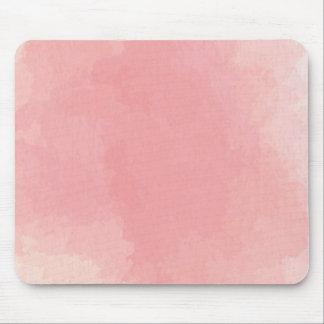 ピンクの水彩画の抽象芸術カスタムなコンピュータマウスパッド マウスパッド