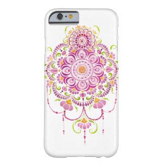 ピンクの水彩画の曼荼羅の花の電話箱 BARELY THERE iPhone 6 ケース