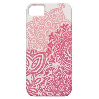 ピンクの水彩画の曼荼羅のiPhoneの場合 iPhone SE/5/5s ケース