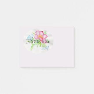 ピンクの水彩画の野生のバラの小型花花束TY ポストイット