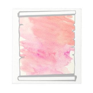 ピンクの水彩画スクロールスクラップブック作りのおもしろい ノートパッド