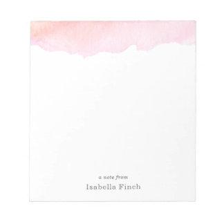 ピンクの水彩画 メモパッド