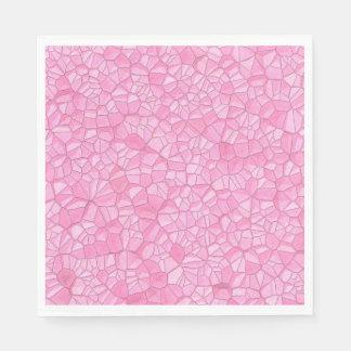 ピンクの水晶紙ナプキン スタンダードランチョンナプキン