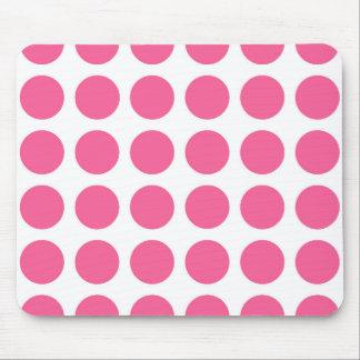 ピンクの水玉模様のマウスパッド マウスパッド
