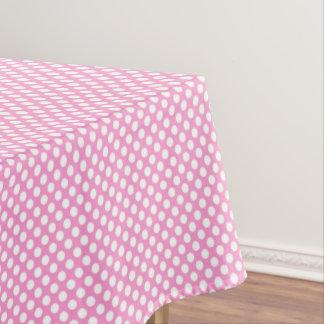 ピンクの水玉模様の女の子の誕生会のテーブルクロス テーブルクロス