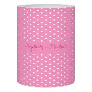 ピンクの水玉模様の花嫁の新郎の結婚記念日LED LEDキャンドル