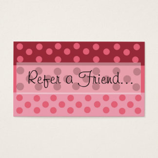 ピンクの水玉模様は友人の名刺を参照します 名刺