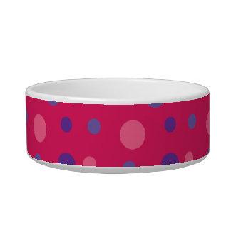 ピンクの水玉模様ペットボール ボウル