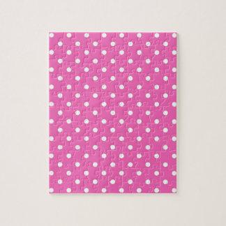 ピンクの水玉模様 ジグソーパズル