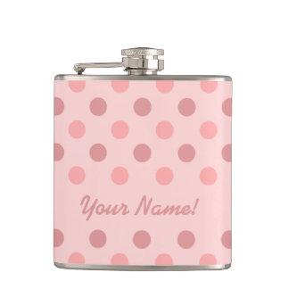 ピンクの水玉模様 フラスク