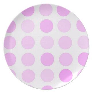 ピンクの水玉模様 プレート