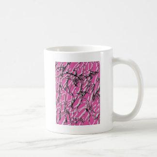 ピンクの汚れ コーヒーマグカップ