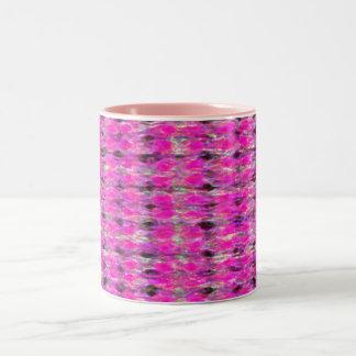 ピンクの汚れ ツートーンマグカップ