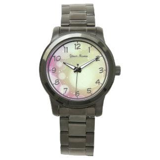 ピンクの泡 腕時計