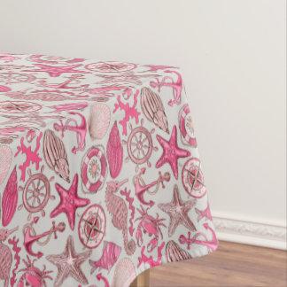 ピンクの海パターン テーブルクロス