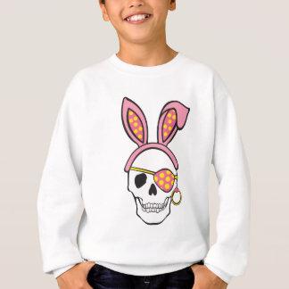 ピンクの海賊スカルのティー スウェットシャツ