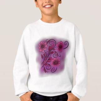 ピンクの渦巻形のな花 スウェットシャツ