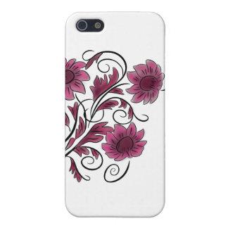 ピンクの渦巻形のな花 iPhone 5 ケース