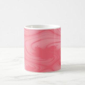 ピンクの渦巻 コーヒーマグカップ