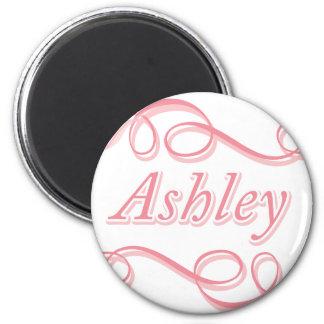 ピンクの渦巻Ashley マグネット