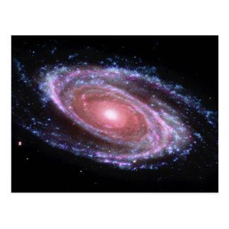 ピンクの渦状銀河の郵便はがき ポストカード