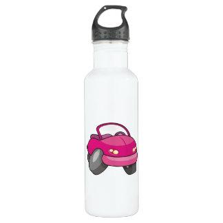 ピンクの漫画車 ウォーターボトル