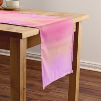 ピンクの火炎信号 ショートテーブルランナー