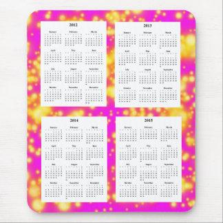 ピンクの火花の4年のカレンダー(2012-2015年)は設計します マウスパッド