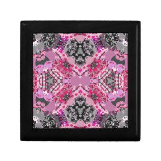ピンクの灰色のガーリーな抽象芸術 ギフトボックス