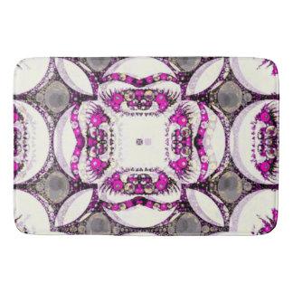ピンクの灰色のトリップ(幻覚体験)のようなな抽象芸術 バスマット