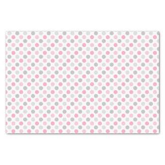 ピンクの灰色の水玉模様 薄葉紙
