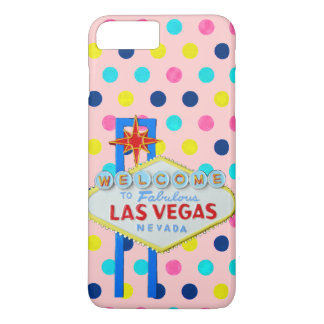 ピンクの点のラスベガスの印 iPhone 8 PLUS/7 PLUSケース