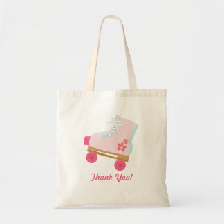ピンクの点のRollerskateの誕生日の好意のバッグ トートバッグ