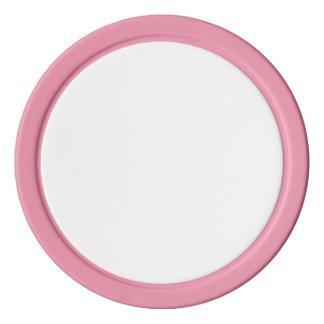 ピンクの無地のな端が付いているポーカー用のチップ ポーカーチップセット