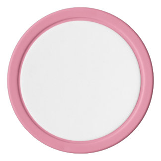 ピンクの無地のな端が付いているポーカー用のチップ ポーカーチップ