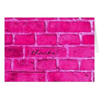 ピンクの煉瓦は感謝していしています カード