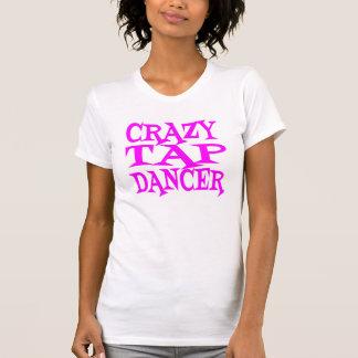 ピンクの熱狂するなタップダンサー Tシャツ