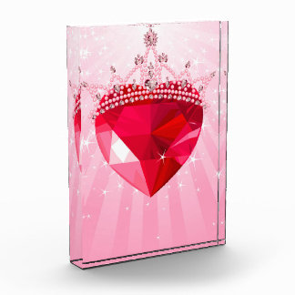 ピンクの王女のハート 表彰盾