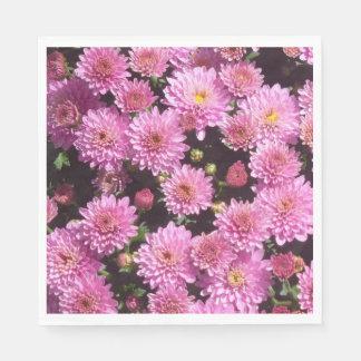 ピンクの球の菊の紙ナプキン スタンダードランチョンナプキン