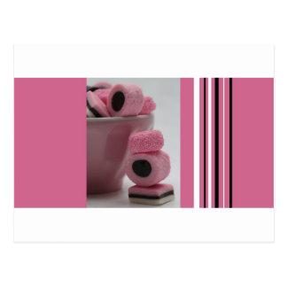 ピンクの甘草allsorts ポストカード